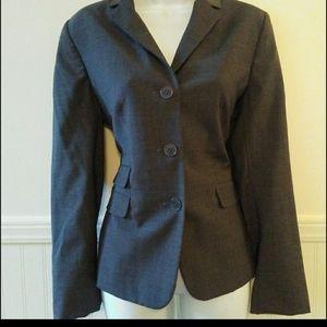Talbots Gray Button Up Long Sleeve Blazer Size 10P